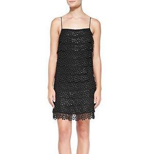Diane von Furstenberg Black Star Lace Tiered Dress
